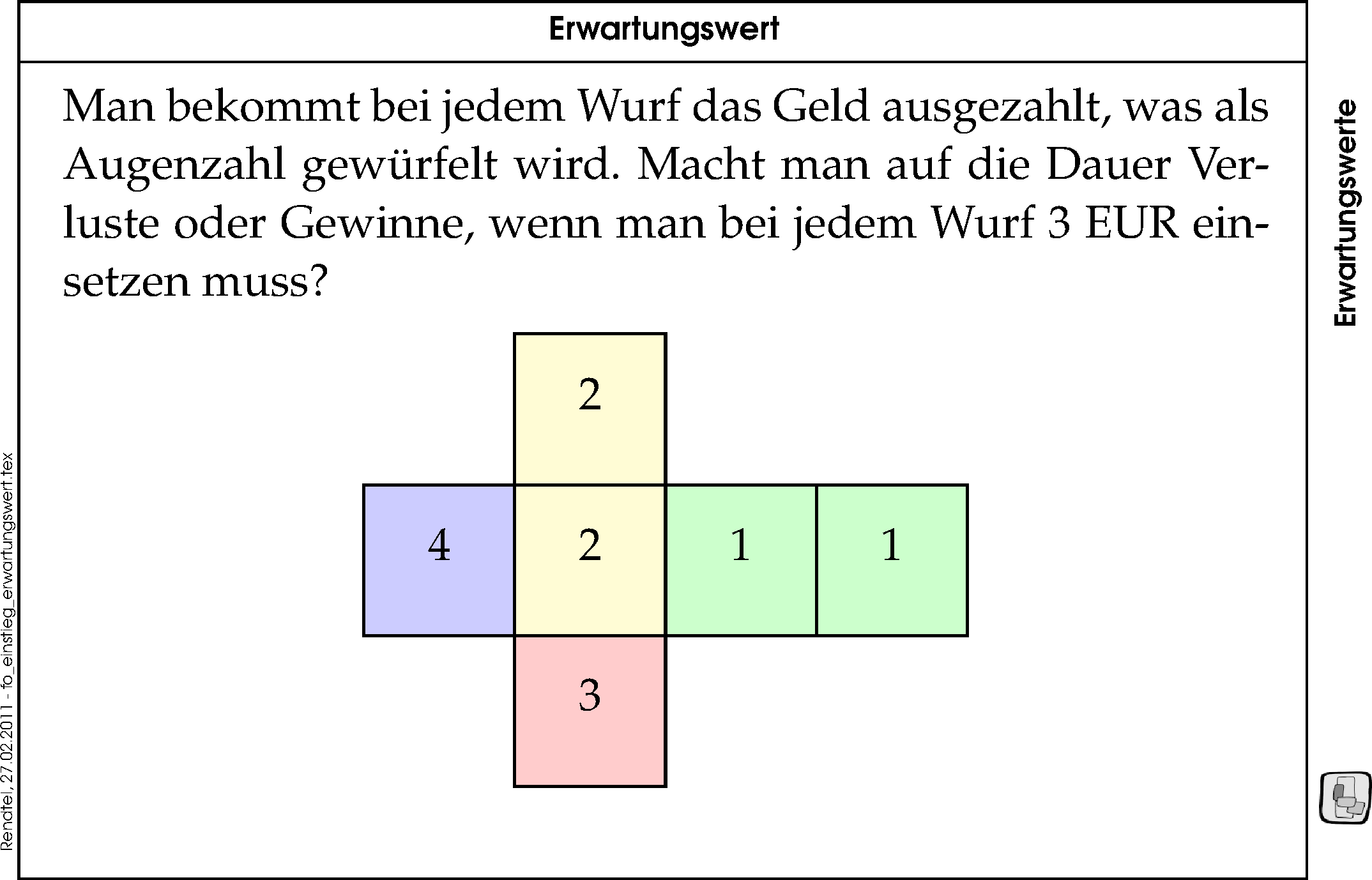 mathematik erwartungswert